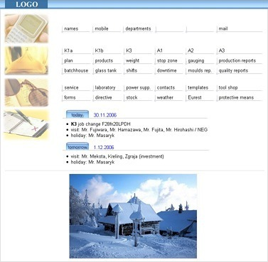 intranet home page example